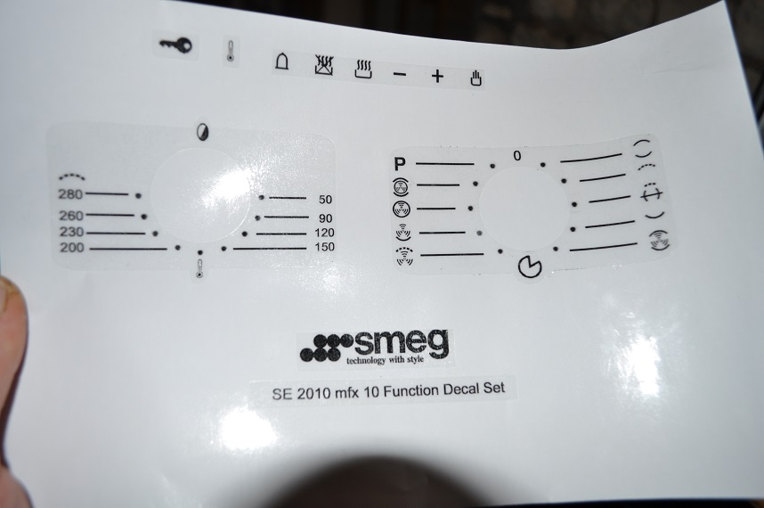 Smeg Cooker Stickers