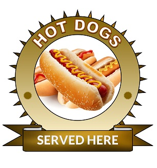 Large 25cm hotdogs sticker.