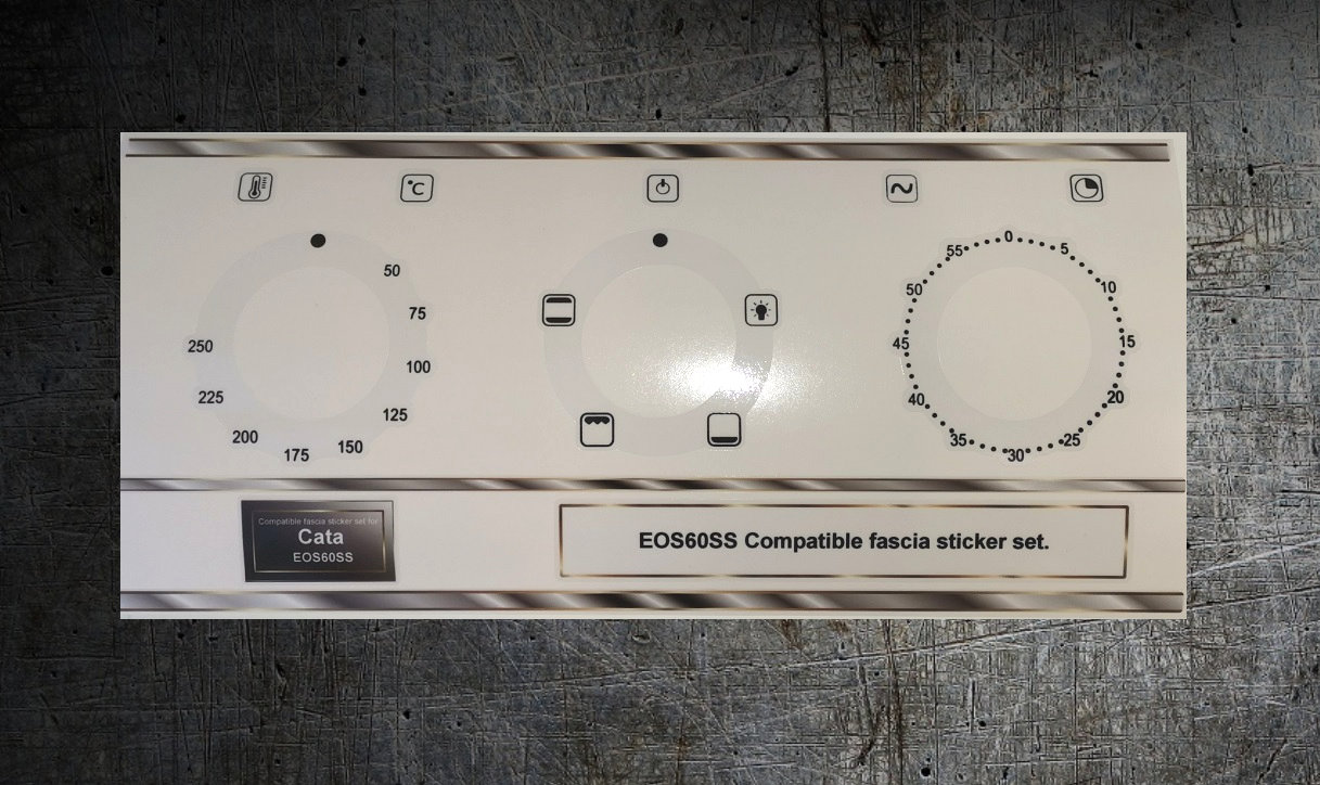 CATA EOS60SS Compatible oven front panel sticker set.