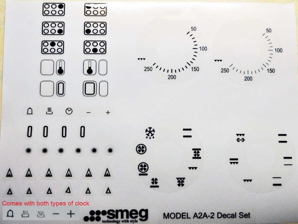 SMEG A2A-2 decal sticker set, may fit others.