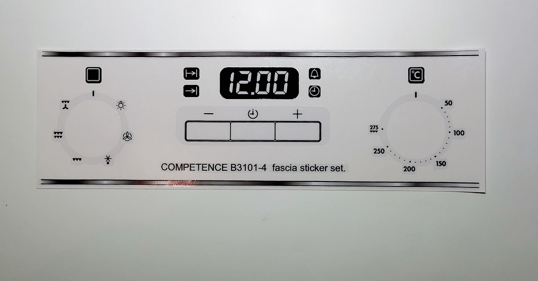 AEG COMPETENCE B3101-4 compatible sticker set for worn fronts.