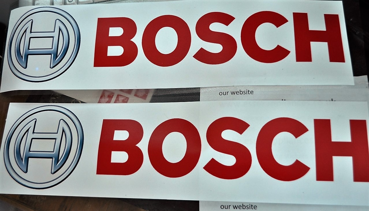 Bosch large 19x5inch waterproof polypropylene advertising x 2