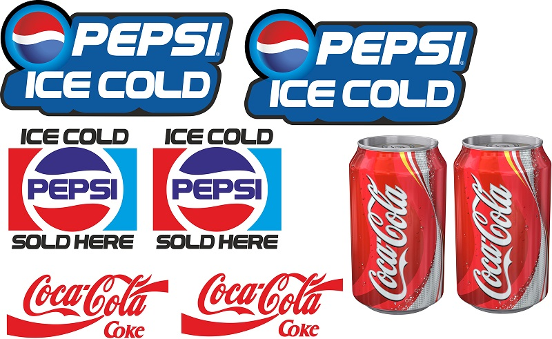 Catering stickers 8 x soft drinks