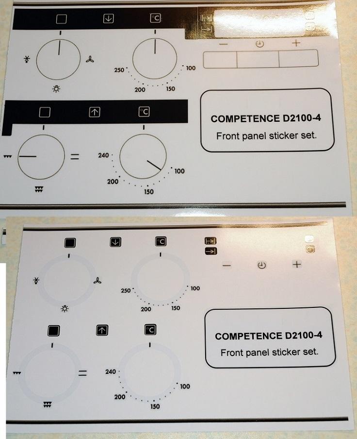 Aeg   Essex Appliances  Decal Sticker Sets