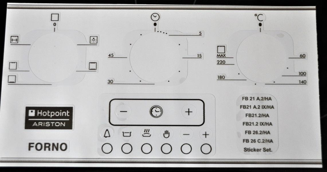 Ariston Essex Appliances Decal Sticker Sets