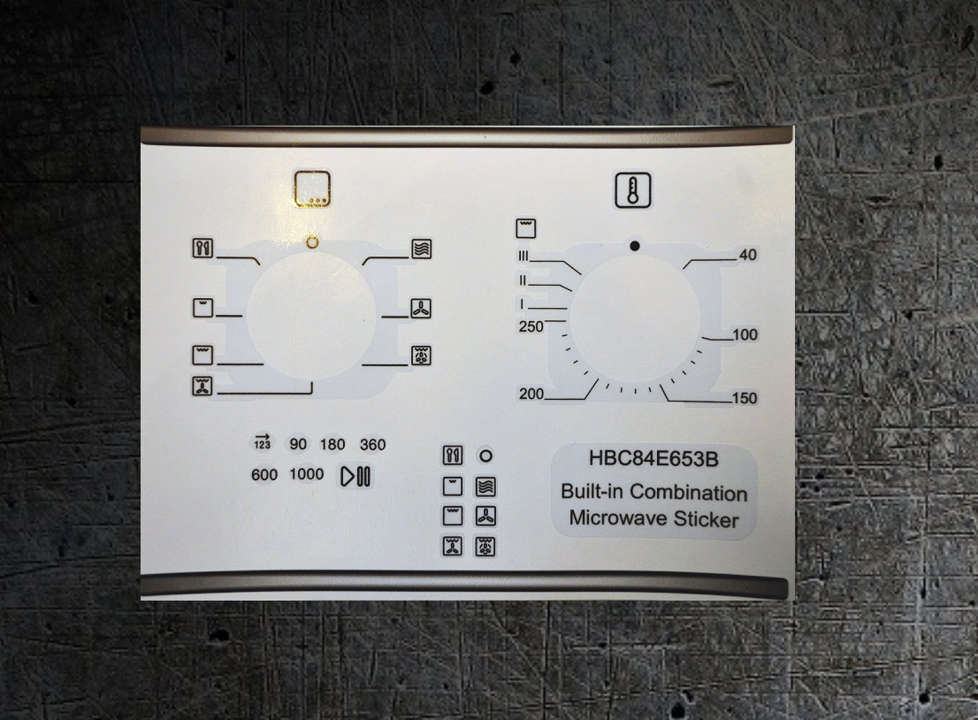 Bosch HBC84E653B others Oven/Microwave fascia sticker set.