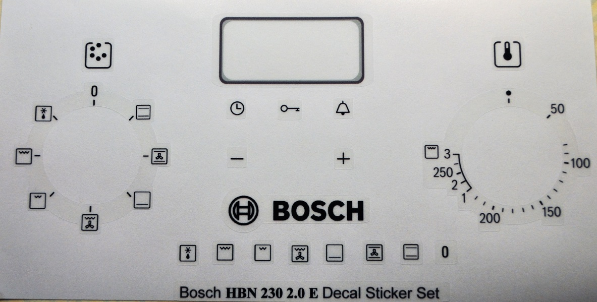 Bosch HBN230 2.0 E decal sticker set for worn fronts.