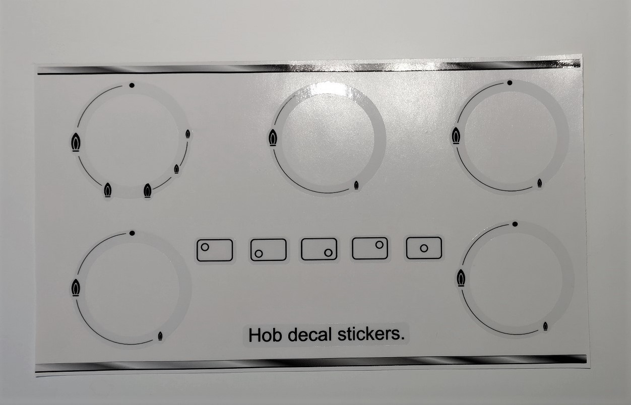 Miele gas hob stickers, may fit many others check size.