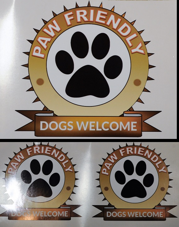 Set of dogs welcome sticker, waterproof, internal/external.