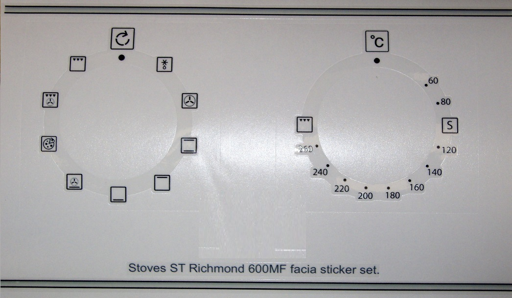 Stoves ST Richmond 600MF compatible panel fascia sticker set.