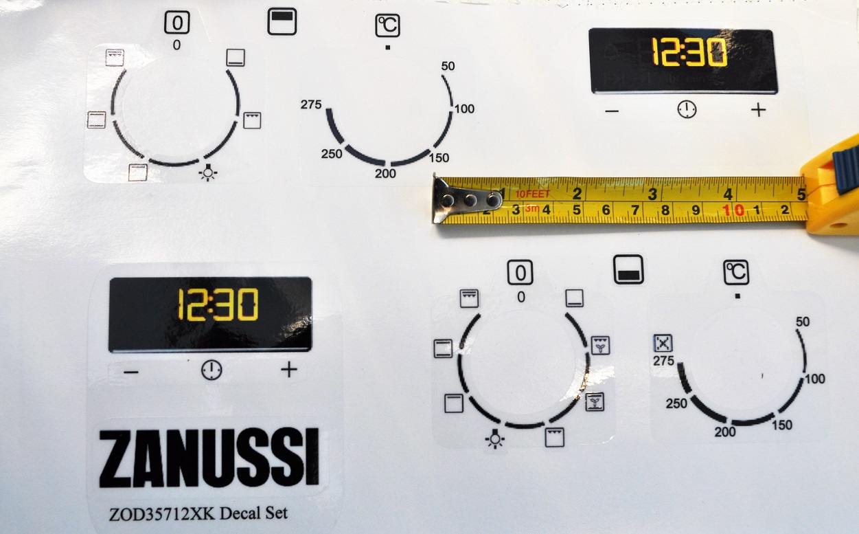 Zanussi zod35712xk decal sticker set, may suit others.